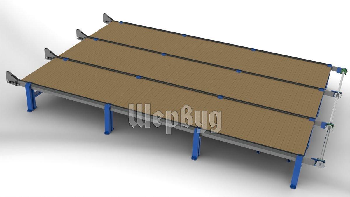Поперечный транспортер для досок оранжевый фольксваген транспортер